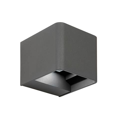 outdoor led up wall light endon el 40072 led outdoor adjustable matt grey up