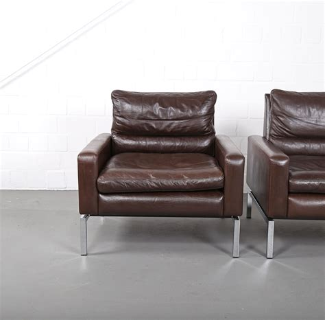 design sofa gebraucht set of two leather armchairs hans piehl for wilkhahn