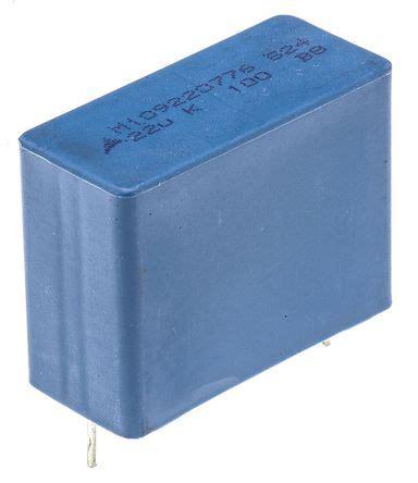 ac capacitor vs dc capacitor 2 x epcos mkt 22μf 100v dc 63v ac through polyester capacitor b32524