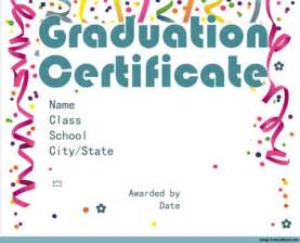 Graduation Certificates Templates Free by Free Graduation Certificate Templates