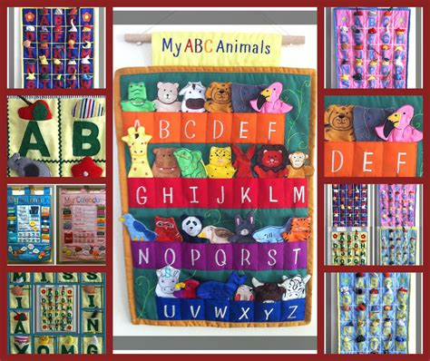 Abc Felt alphabet abc wall hangings and others