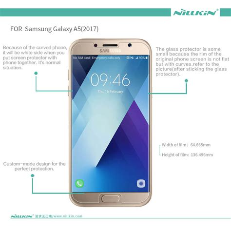 Silicon Intip For Samsung A52017 nillkin amazing h tempered glass screen protector for samsung galaxy a5 2017