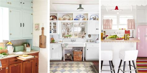 Vintage Kitchen Designs 20 Vintage Kitchen Decorating Ideas Design Inspiration For Retro Kitchens