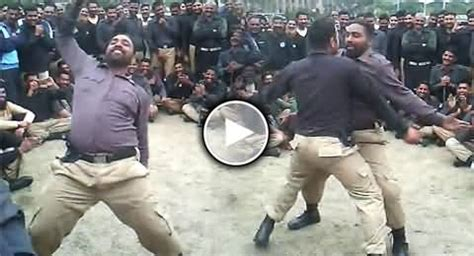 watch amazing dance of punjab police constables, the real