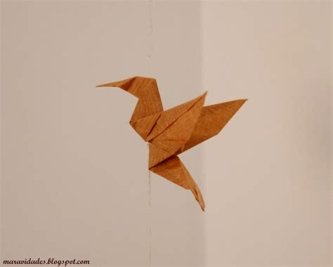 How To Make A Paper Hummingbird - origami hummingbird maravidades
