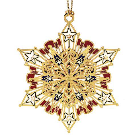 americana snowflake ornament chemart ornaments solid