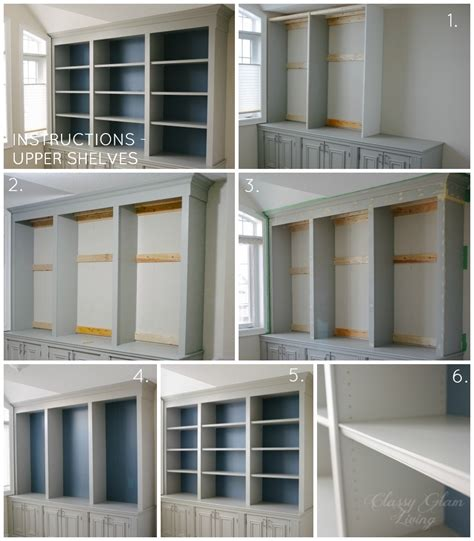 diy built in closet cabinets diy built in office cabinet classy glam living