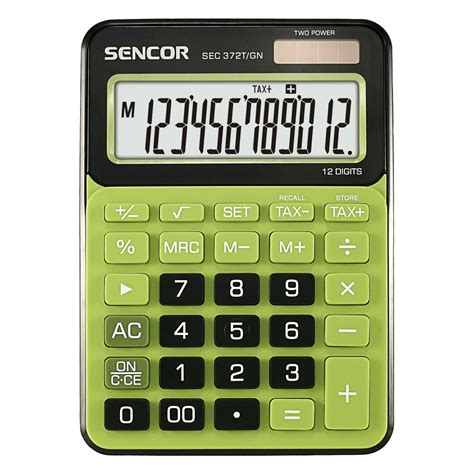 table calculator sec 372t gn sencor let s live