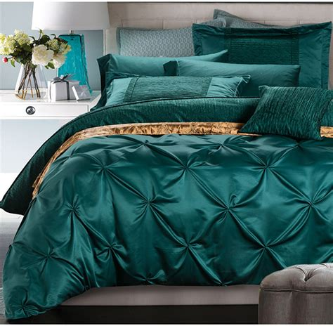 Turquoise King Bedding Sets Aliexpress Buy European Luxury Satin Washed Silk 4pcs King Size 100 Cotton