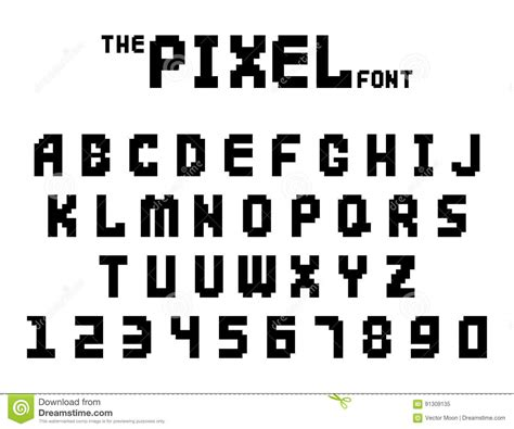 printing large letters on computer pixel retro font video computer game design 8 bit letters