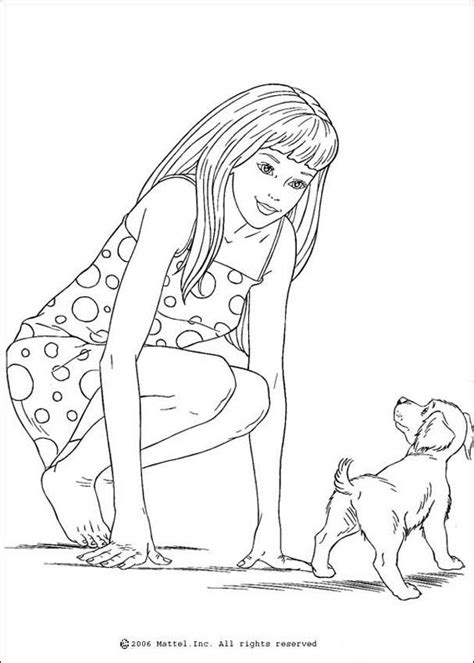 barbie dog coloring page barbie s dog coloring pages hellokids com