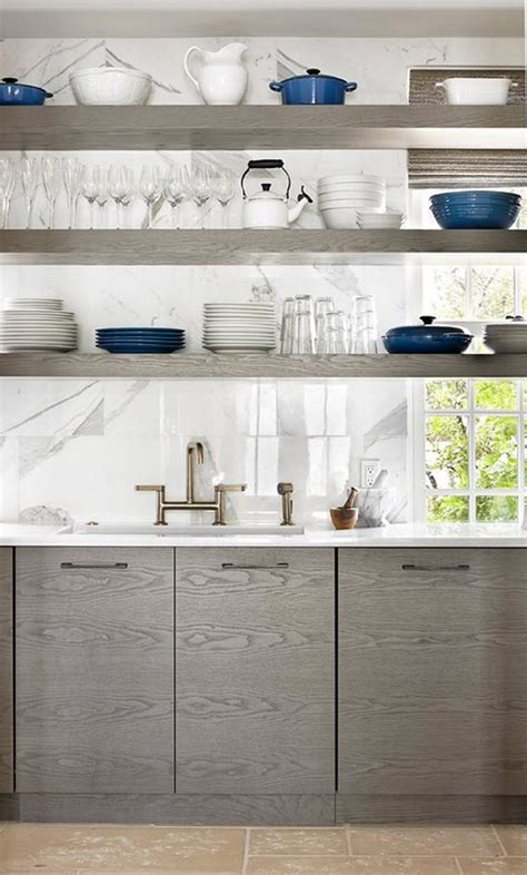 kitchens with open shelves simplified bee