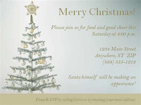 christmas party invitation templates free word cimvitation