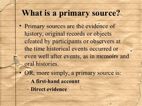 What Is A Primary Document