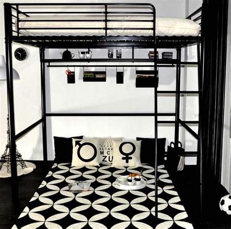 chambre ado avec lit mezzanine gain de place dans la chambre ado avec un lit mezzanine