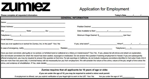 printable job applications application tips victoria s