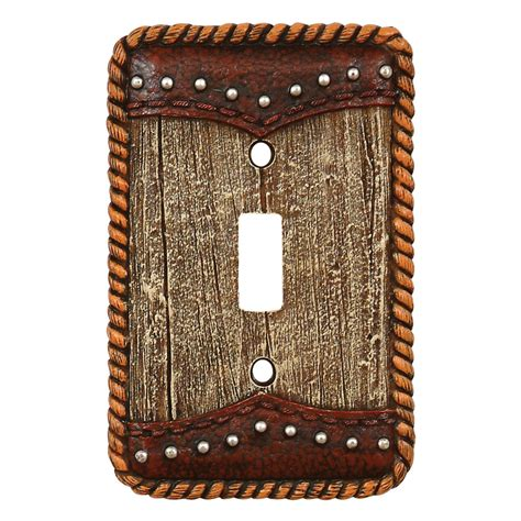 Barnwood Leather Switch Covers