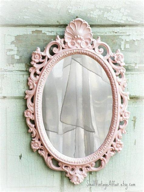 cream oval metal vanity mirror shabby french chic home 20 best collection of oval shabby chic mirrors