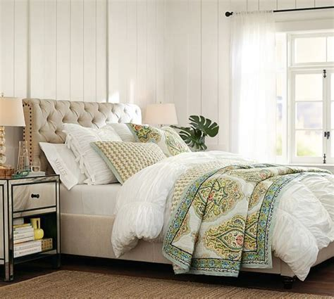 Pottery Barn King Headboard by Chesterfield Upholstered Bed Headboard Pottery Barn