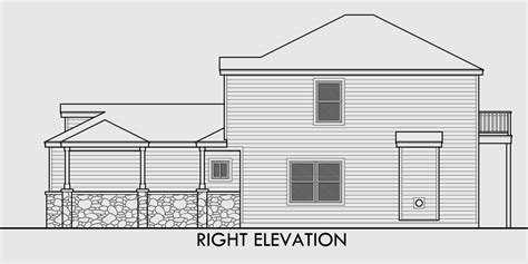 Two Story House Plans For Small Lots by Narrow Lot House Plans 3 Bedroom House Plans Two Story