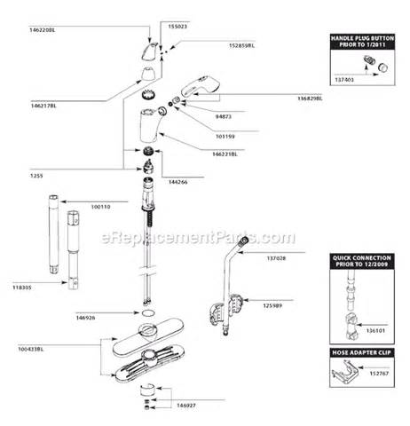 Moen Kitchen Faucets Replacement Parts by Moen 7560bl Parts List And Diagram After 1 11