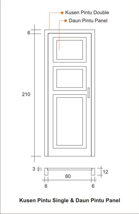 detil kusen pintu single daun pintu panel konstruksi