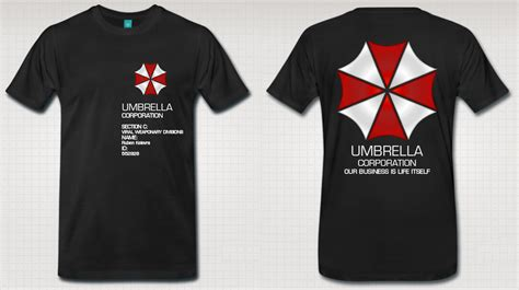 umbrella corporation t shirt by derdemotape on deviantart