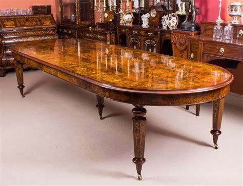 Bespoke Dining Tables And Chairs Bespoke Handmade Burr Walnut Marquetry Dining Table And 12 Chairs For Sale At 1stdibs