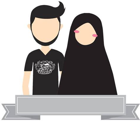 design foto pasangan download gratis 24 desain avatar muslim dan muslimah versi