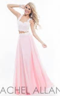 2015 lace two piece rachel allan 6832 long pink prom