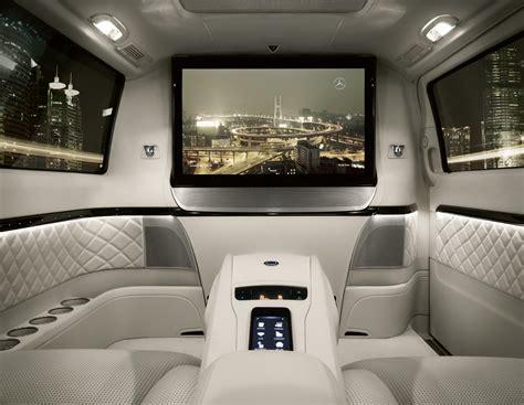 mercedes debuts luxury chauffeured van  beijing