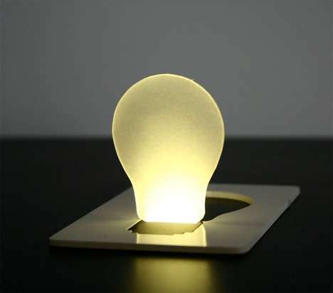 pop up lights pop up lights credit card sized light bulbs