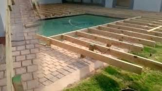 pool deck bauen inground pool deck which to choose backyard design ideas