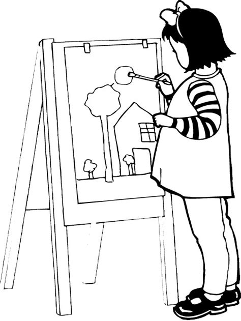 Art Coloring Pages 16 Artist Coloring Pages