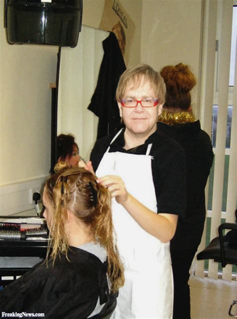 elton hairdresser pictures freaking news