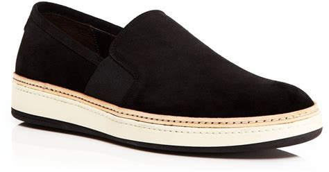 Azcost Slip On Suede 02 to boot suede slip on sneakers bloomingdale s exclusive in black for lyst