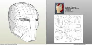 Papercraft Helmet Template - papercraft pdo file template for iron 16