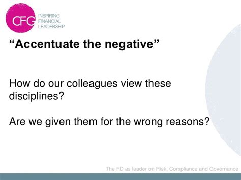 Accentuate The Negative 2 by 3e Fd As A Leader On Risk Compliance And Governance