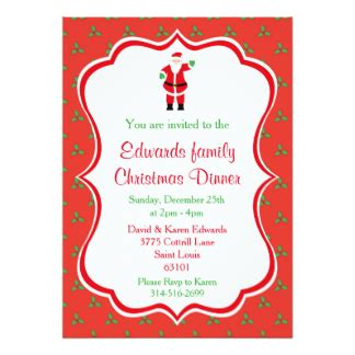 christmas dinner invitation festival collections