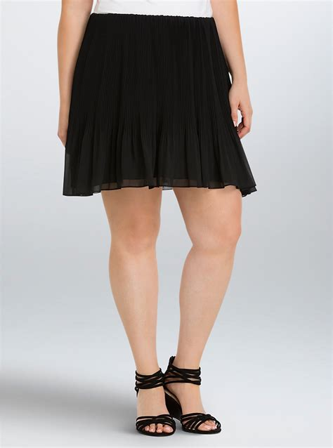Pleated Chiffon Mini Skirt pleated chiffon mini skirt torrid