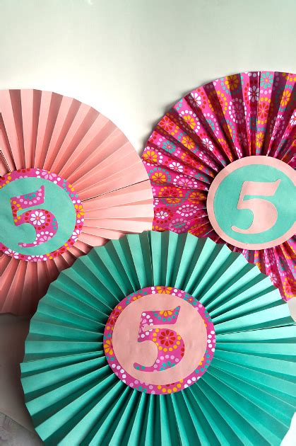 How To Make Paper Fan Decorations - paper fan birthday decor think crafts by createforless