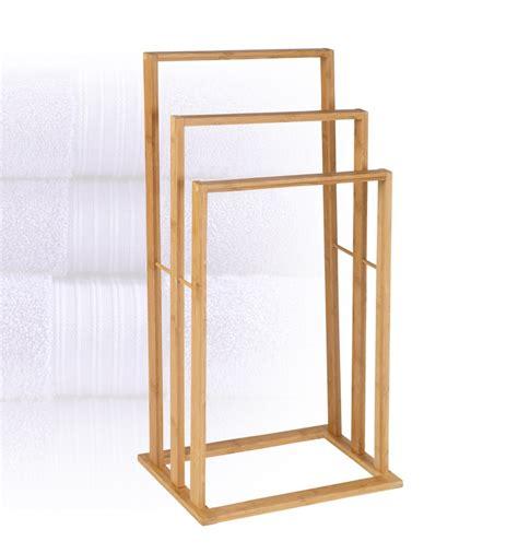 Bamboo Towel Rack by 3 Bar Bamboo Towel Rack 859731