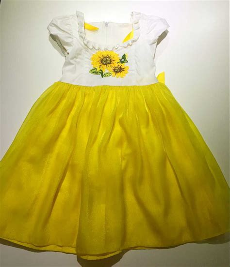 embroidery design in dress 2015 new design girls sun flower hand embroidery dress