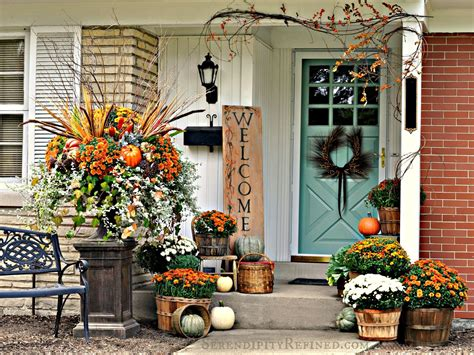 porch decor serendipity refined blog fall harvest porch decor with