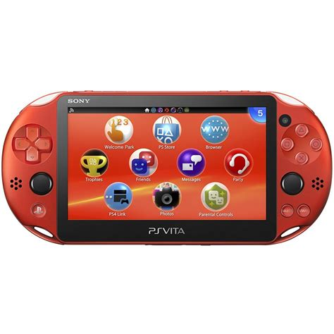 Vita Pch - ps vita playstation vita new slim model pch 2000 metallic red