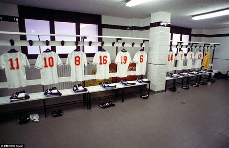 changing room football football dressing room special golden years daily mail