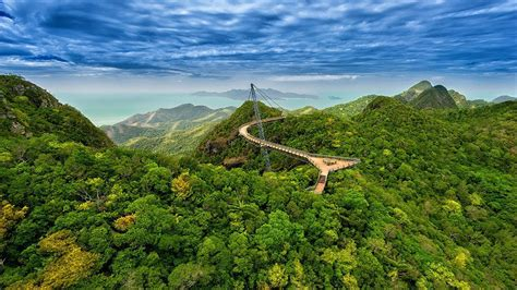 Car Wallpaper Hd Pc Display Cable by Langkawi Sky Blue Green Forest Bridge Malaysia Wallpaer Hd