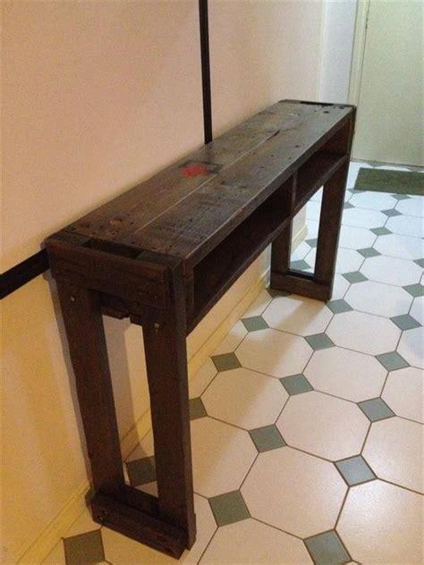pallet wood hall table pallet furniture diy