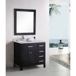 Design Bathroom Vanity Design Element Dec076 D 36 Inch Modern Bathroom Vanity