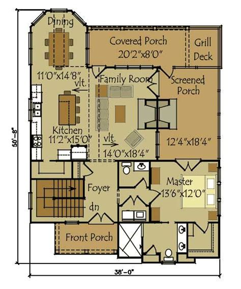 bungalow floor plans with walkout basement small cottage plan with walkout basement cottage floor